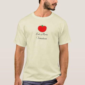 T-shirt Mangez plus de chemises de tomates