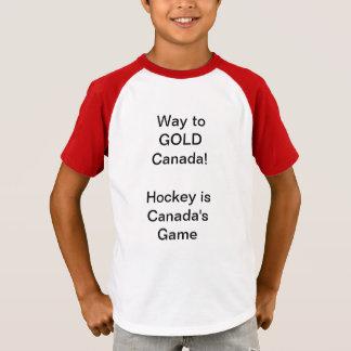 T-shirt Manière à la chemise du Canada d'OR