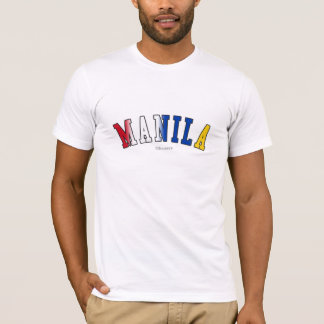 T-shirt Manille dans des couleurs de drapeau national de