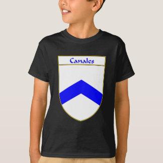 T-shirt Manteau de Canales des bras/de crête de famille