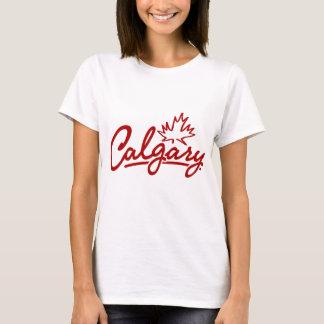 T-shirt Manuscrit de feuille de Calgary