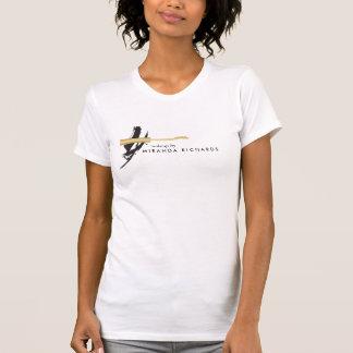 T-shirt Maquilleur abstrait de baguette magique de mascara