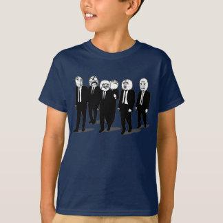 T-shirt marche comique de visages de meme de rage