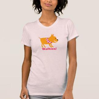 T-shirt Marcheur de chien avec le Bandana de coeurs