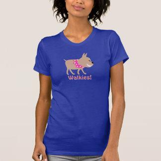 T-shirt Marcheur rose de chien de Bandana