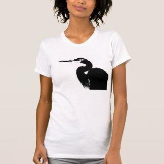 T-shirt Marécages d'animaux de faune d'oiseau de héron
