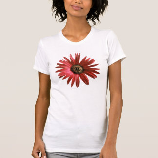 T-shirt Marguerite rouge peinte