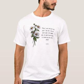 T-shirt Marguerites avec le vers de bible : La paix de