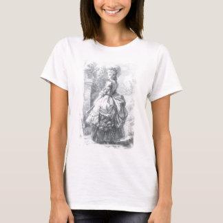 T-shirt Marie Antoinette - marchant dans un jardin