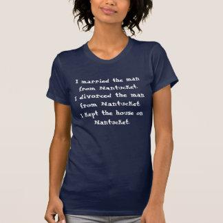 T-shirt Marié, divorcé, sur Nantucket