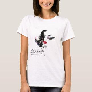 T-shirt Marquage à chaud de maquilleur de visage