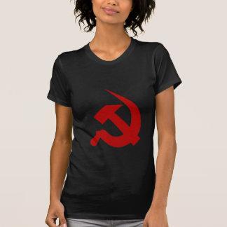 T-shirt Marteau et faucille rouge foncé Néo--Épais sur le