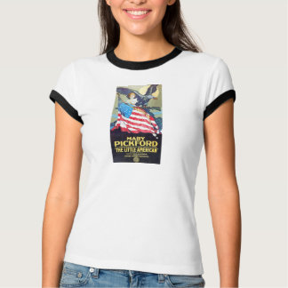 "T-shirt Mary Pickford 1917 ""peu"" affiche de film"
