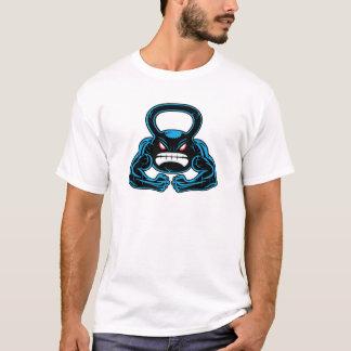 T-shirt mascotte fâchée musculaire de kettlebell