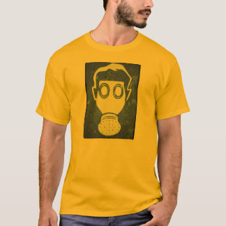 T-shirt Masque de gaz bleu de signe