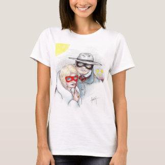 T-shirt masqué d'homme et de femme