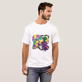 T-shirt Masques de tragédie de comédie de mardi gras