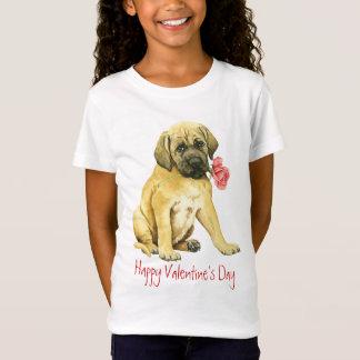 T-Shirt Mastiff rose de Valentine