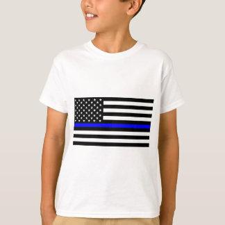 T-shirt Matière bleue des vies - la police de drapeau des