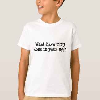 T-shirt Maximum pour faire la liste