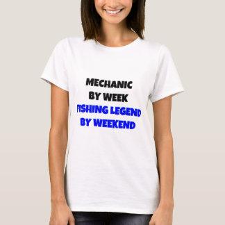 T-shirt Mécanicien par légende de pêche de semaine par