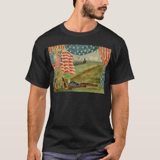 T-shirt Médaille des syndicats de guerre civile de drapeau