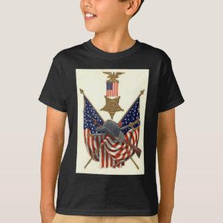 T-shirt Médaille Eagle de guerre civile des syndicats de