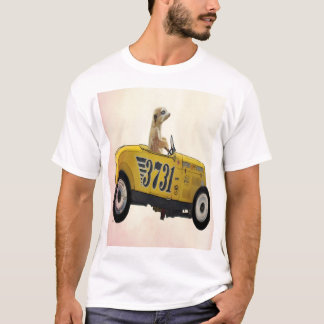 T-shirt Meerkat dans le hot rod 3