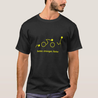T-shirt meilleur, plus fort, plus rapidement : triathlete