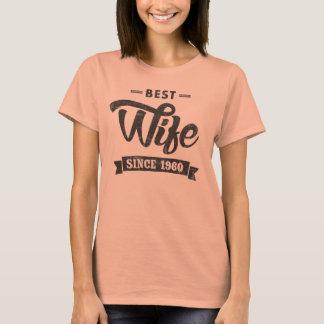 T-shirt Meilleure épouse vintage depuis 1960