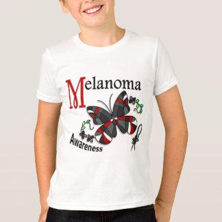 T-shirt Mélanome du papillon 2 en verre souillé