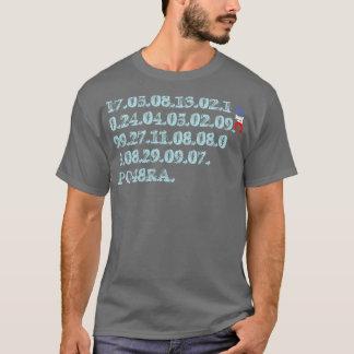 T-shirt mémorable de dates de Pompey