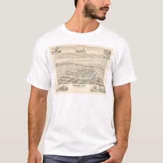 T-shirt Merced, carte panoramique 1888 (1062A) de CA