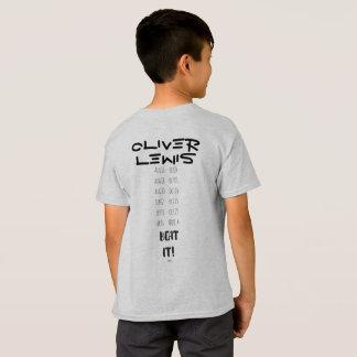 T-shirt Merch de visite de pièce en t d'enfants de