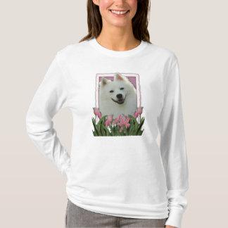 T-shirt Merci - tulipes roses - Esquimau américain