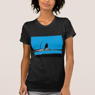 T-shirt Merle avec l'antenne sur la turquoise