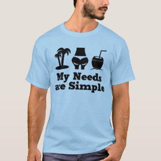 T-shirt Mes besoins sont bikini simple de cocktail de