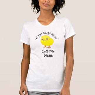 T-shirt Mes piaulements préférés m'appellent chemise de