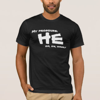 T-shirt Mes pronoms il