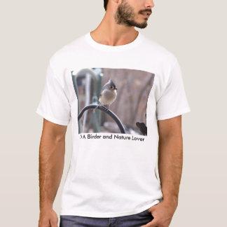 T-shirt Mésange tuftée sur le crochet de planteur, je suis