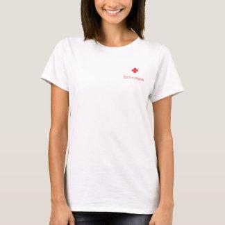 T-shirt Métier d'infirmier (Féminine/tissés claire/Poche)