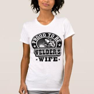 T-shirt Mieux fier d'être l'épouse de la soudeuse