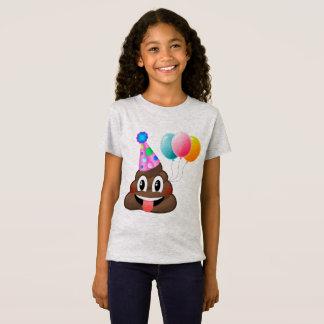 T-shirt mignon d'anniversaire d'Emoji de dunette