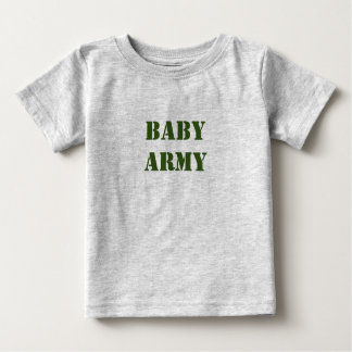 T-shirt mignon de bébé d'armée de bébé
