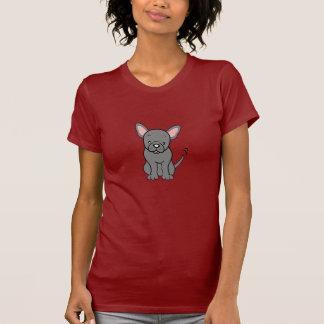 T-shirt mignon de bouledogue français de bande