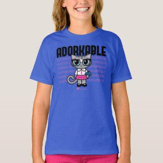 T-shirt mignon de chat d'Adorkable par des