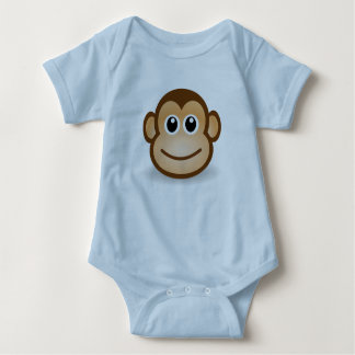 T-shirt mignon de combinaison de visage de singe