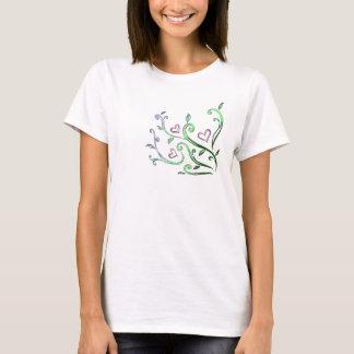 T-shirt mignon de conception florale