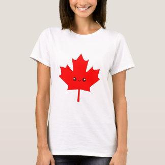 T-shirt mignon de feuille d'érable rouge