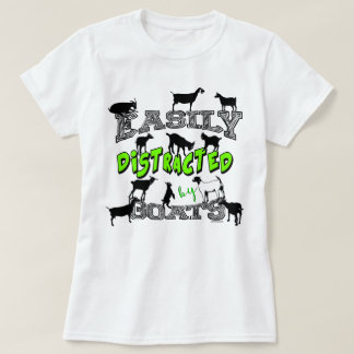 T-shirt Mignon de l'HUMOUR | de CHÈVRE facilement distrait